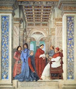 L'affresco del Platina di Melozzo da Forlì nei Musei Vaticani