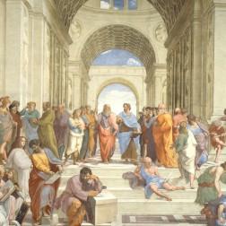La Scuola di Atene di Raffaello Sanzio nei Palazzi Vaticani