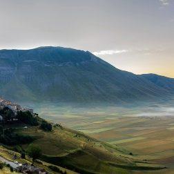 L'altopiano di Castelluccio di Norcia in Umbria