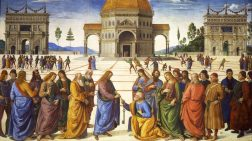 La consegna delle chiavi di Perugino e Signorelli nella cappella Sistina